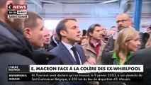 Regardez les échanges tendus entre le Président Emmanuel Macron et d'anciens salariés de l'usine Whirlpool à Amiens - VIDEO