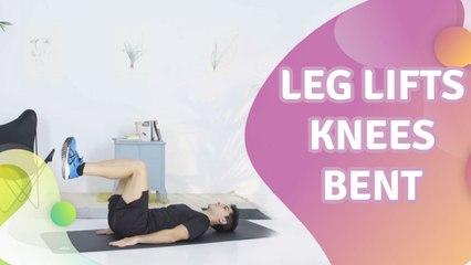 Leg lifts, knees bent - Step to Health
