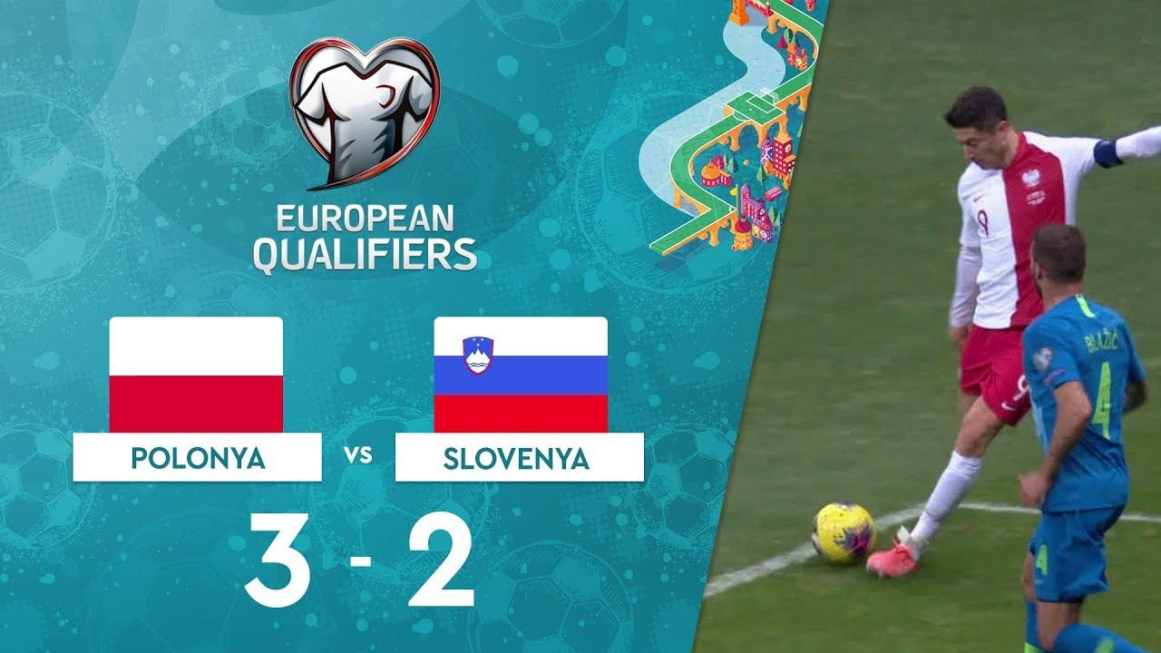 Polonya 3-2 Slovenya | EURO 2020 Elemeleri Maç Özeti - G Grubu