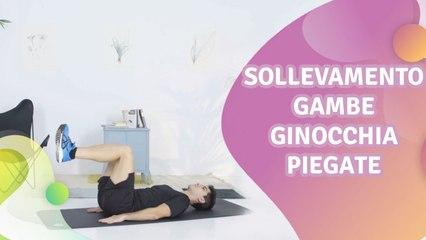 Sollevamento gambe: ginocchia piegate - Vivere più Sani