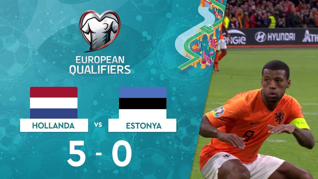 Hollanda 5-0 Estonya | EURO 2020 Elemeleri Maç Özeti - C Grubu