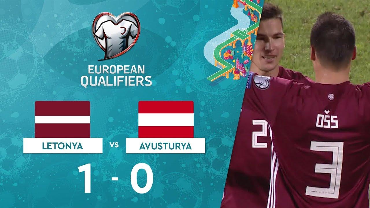 Letonya 1-0 Avusturya | EURO 2020 Elemeleri Maç Özeti - G Grubu