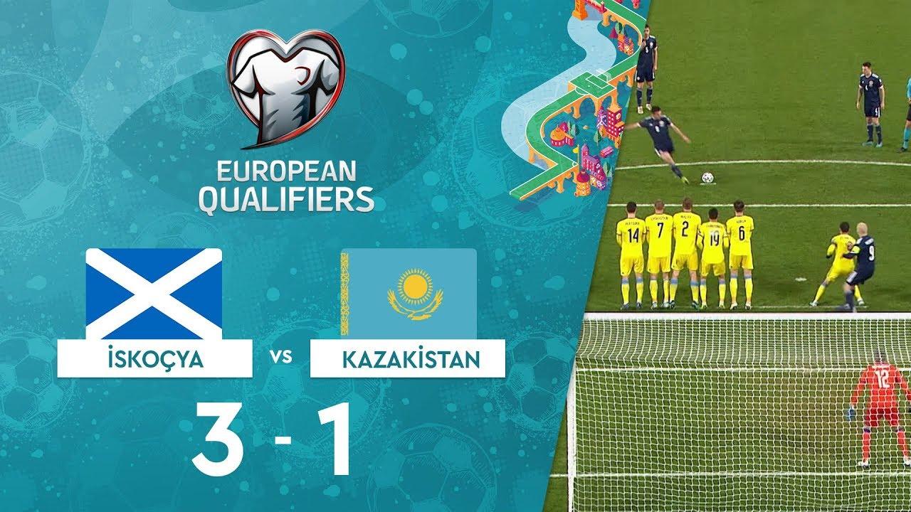 İskoçya 3-1 Kazakistan | EURO 2020 Elemeleri Maç Özeti - I Grubu
