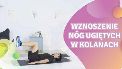(Leżenie przodem) Wznoszenie nóg ugiętych w kolanach - Krok do Zdrowia