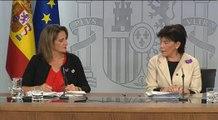 Celaá y Ribera comparecen tras la reunión del Consejo de Ministros