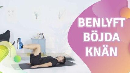 Benlyft, böjda knän - Steg för Hälsa