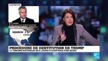 """Procédure de destitution de Trump: """"Sa base électorale reste très unifiée"""""""