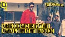 Kartik Promotes 'Pati, Patni Aur Woh' With Bhumi & Ananya on B'Day