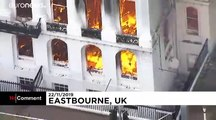 Un incendie ravage un hôtel au Royaume-Uni