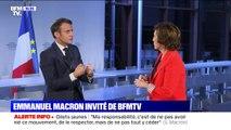 """Retraites: """"Dès que la réforme est votée, il faut que les nouveaux entrants rentrent dedans"""", déclare Emmanuel Macron"""