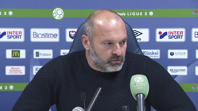 Conférence de presse de Pascal Dupraz après SMCaen / Le Mans FC