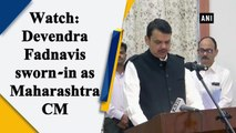 Devendra Fadnavis sworn-in as Maharashtra CM