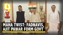 Bolt From Blue: Fadnavis Swears in as Maha CM, Ajit Pawar Dy CM