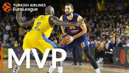 Round 10 MVP: Nikola Mirotic, FC Barcelona