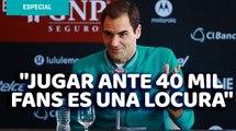 'Jugar ante 40 mil fans es una locura'; México le dará a Federer lo que jamás en su carrera