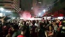 Torcida comemora a Vitória do Flamengo na LIbertadores
