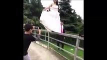 Quand la mariée veut faire la belle mais qu'elle se rate