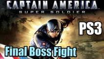 Final Boss Captain America Super Soldier (PS3) - Gameplay Walkthrough