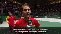 Nadal hails 'unforgettable evening' for Spain in Davis Cup