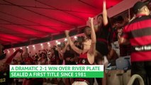Flamengo fans party at the Maracana after famous Copa Libertadores title