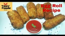 Potato Egg Roll | Egg Kabab | Easy Egg Potato Snack | Potato Kabab | Egg Kabab Roll |Easy Potato Egg Kabab | Egg Kabab Recipe by Tasty Foodie