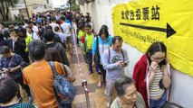 Hong Kong elections: voting kicks off in first polls since protest crisis erupted