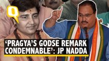 Pragya Thakur Removed From Defence Panel, BJP Condemns Godse Remark