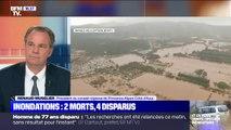 """Deux morts lors des intempéries: le président de la région PACA, Renaud Muselier, se dit """"dévasté devant les familles qui sont directement touchées"""""""