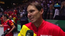 """Coupe Davis 2019 - Rafael Nadal : """"It's amazing what happened this week"""""""