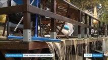 Alpes-Maritimes : une maison coupée en deux par un torrent de boue