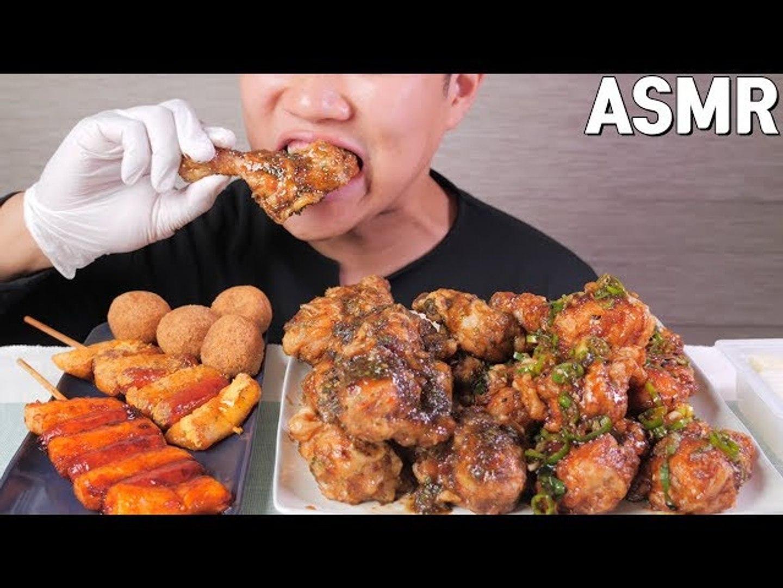 ASMR Balsamic chicken Eating sounds No talking!