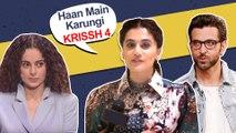 Taapsee Pannu SLAMS Journalist, REPLACING Kangana Ranaut In Krrish 4   IFFI Goa 2019