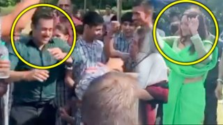 Salman Khan Dancing With Special Children In Jaipur With Sonakshi Sinha Dabangg 3 TEAM