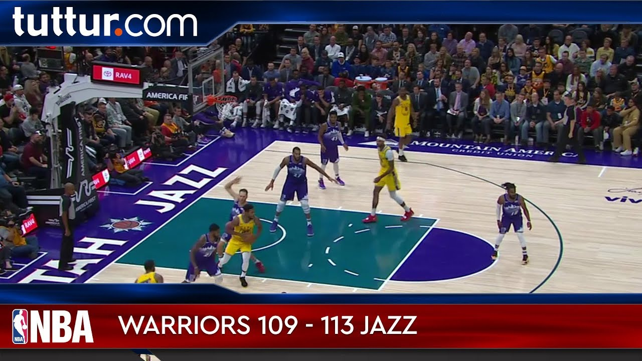 Golden State Warriors 109 - 113 Utah Jazz