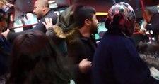 İstanbul'da dehşet! Eli sopalı saldırganlar, içi yolcu dolu minibüsün önünü kesti