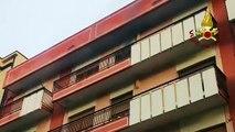 Crotone - Lavatrice a fuoco in appartamento, intervengono Vigili del Fuoco (25.11.19)