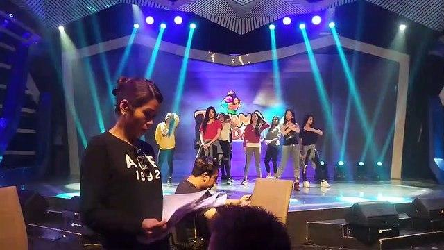 Opening dance rehearsals nina Jessy, Aiko at Sunshine, silipin