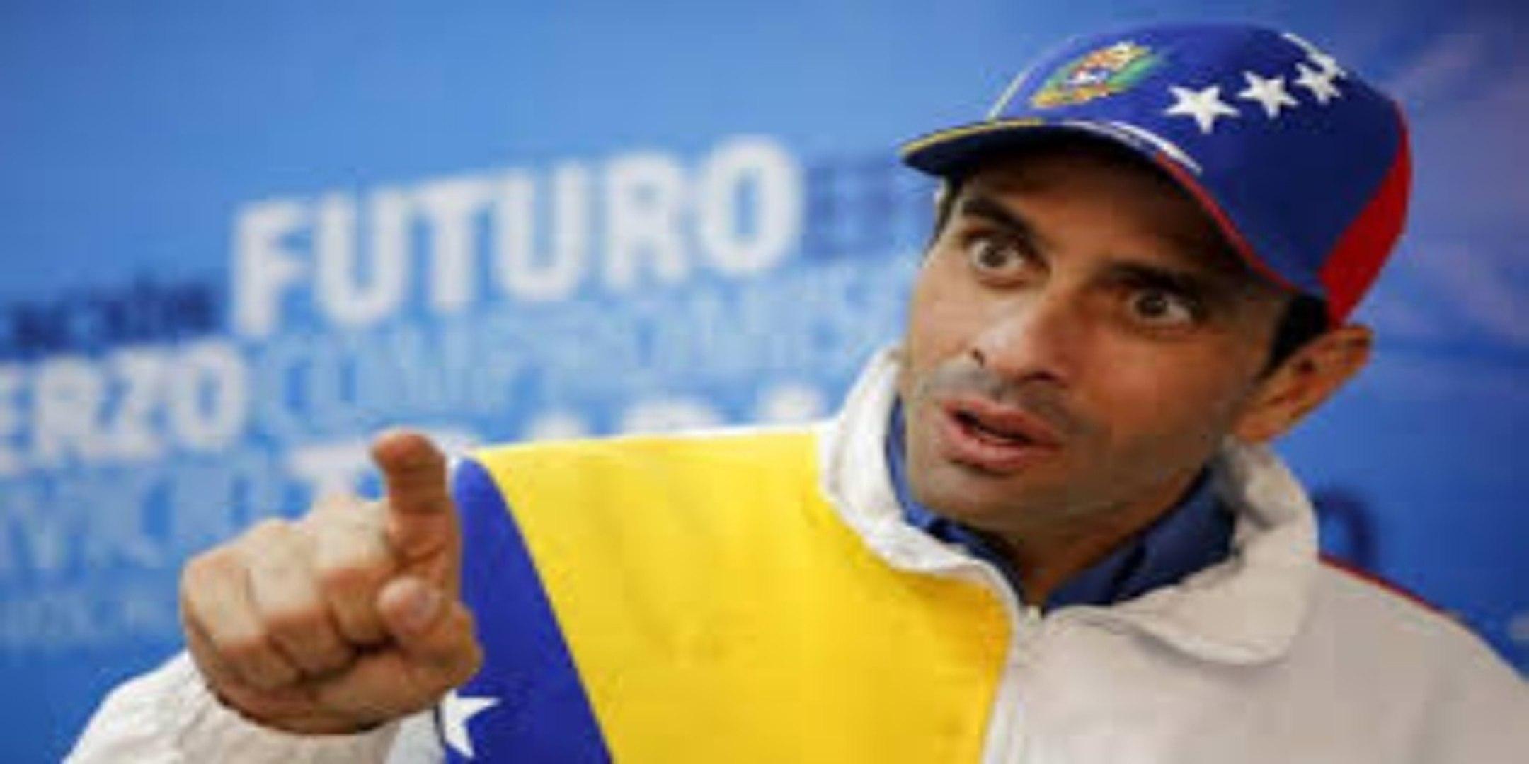La llamada de socorro del opositor Capriles al ser retenido por una banda chavista en un aeropuerto