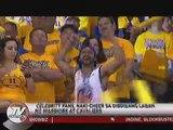 Celebrity fans, naki-cheer sa dibdibang laban ng Warriors at Cavaliers