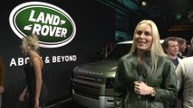 New 2020 Land Rover Defender at the 2019 LA Auto Show - Lindsey Vonn