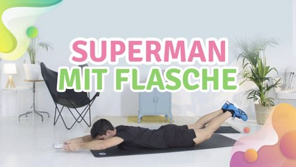 Superman mit Flasche -  Besser gesund Leben