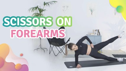 Scissors on forearms - Step to Health