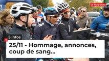 Hommage, annonces, coup de sang… Cinq infos bretonnes du 25 novembre