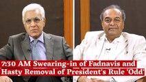 'Odd' but Legal: Devendra Fadnavis Lawyer Mukul Rohatgi on the 730 AM Swearing-in of Maharashtra CM