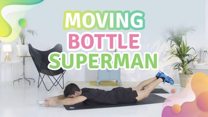 Moving bottle superman - Steg för Hälsa