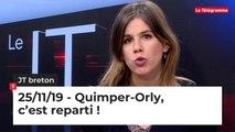 JT breton du lundi 25 novembre 2019 : Quimper-Orly, c'est reparti !