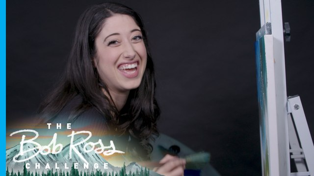 Taylor Ortega from 'Kim Possible' questions her sanity while painting with Bob Ross — The Bob Ross Challenge