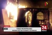 Chimbote: incendio destruyó 30 viviendas en asentamiento humano