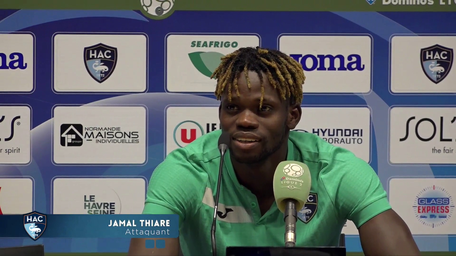Après HAC - Guingamp (4-0), réaction de Jamal Thiaré