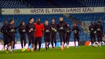Veille de match  à Madrid !